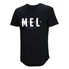 Melbourne United 2019/20 Mens Lifestyle Tee Black S, Black, rebel_hi-res