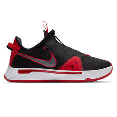 Nike PG 4 Mens Basketball Shoes Black/Red US 7, Black/Red, rebel_hi-res