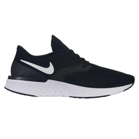 Nike Odyssey React 2 Mens Running Shoes, Black / White, rebel_hi-res