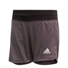 adidas Girls Climachill Training Shorts Black / White 8, Black / White, rebel_hi-res