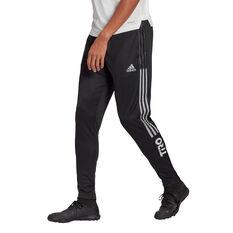 adidas Mens Tiro Wording Track Pants Black S, Black, rebel_hi-res