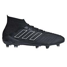 adidas Predator 18.1 Mens Football Boots Black US 7, Black, rebel_hi-res