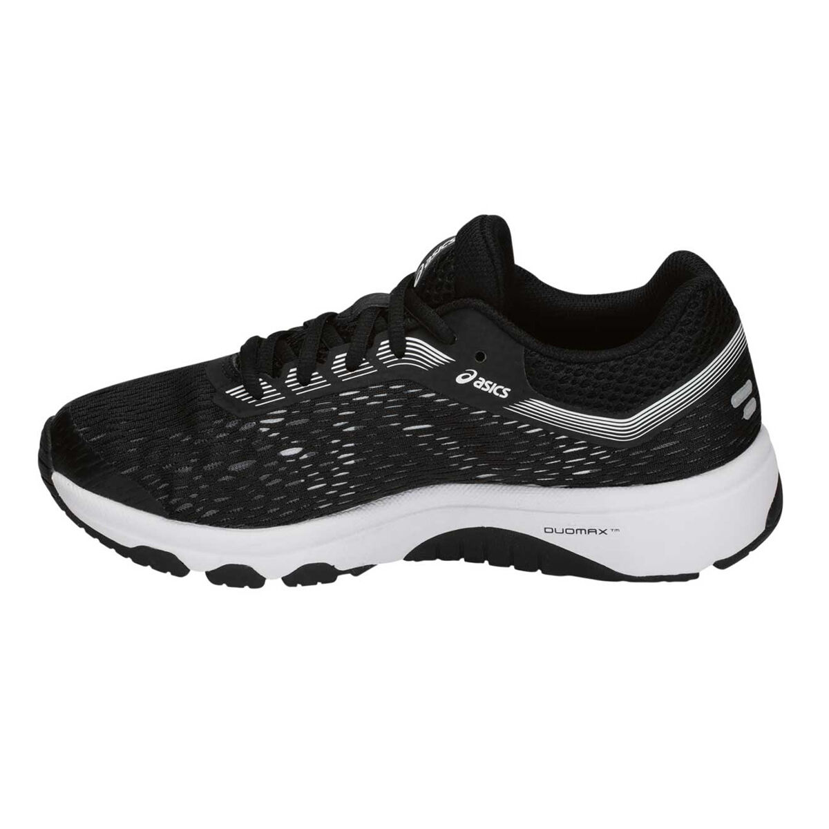 Asics GT 1000 7 Boys Running Shoes Black White US 7