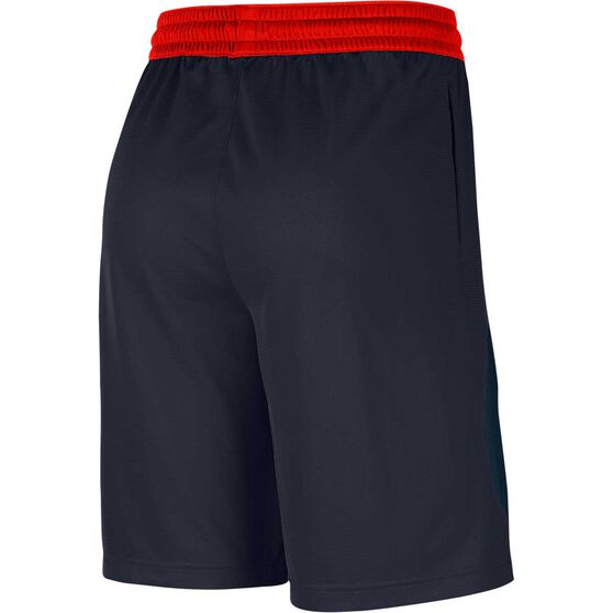 Nike Mens Dri-FIT HBR 2 Shorts, Navy / Orange, rebel_hi-res