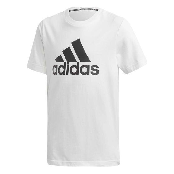 adidas Boys Badge Of Sport Tee, White / Black, rebel_hi-res