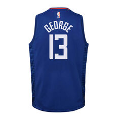 Nike Los Angeles Clippers Paul George 2020/21 Youth Icon Swingman Jersey Blue S, Blue, rebel_hi-res