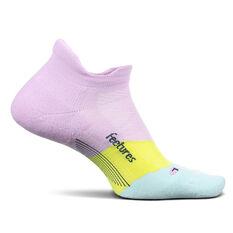 Feetures Elite Cushion No Show Tab Socks Purple S, Purple, rebel_hi-res