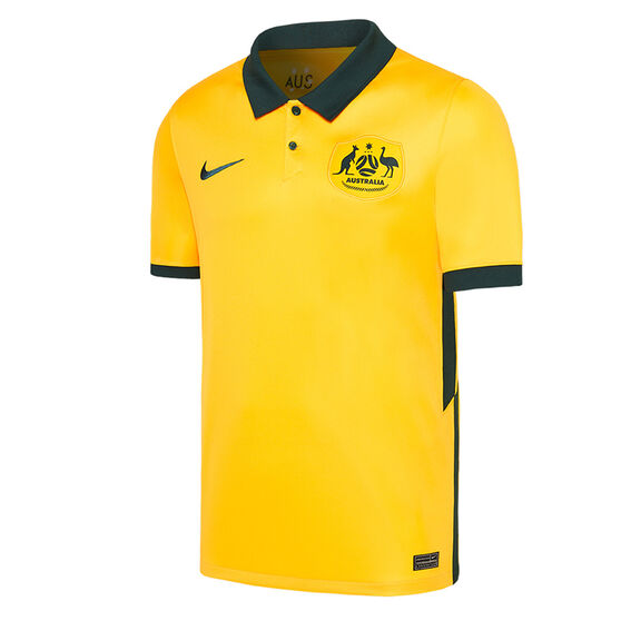 Australia 2020/21 Mens Home Jersey, Yellow, rebel_hi-res