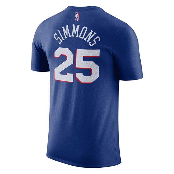 Nike Philadelphia 76ers Mens Ben Simmons Dry Tee S, , rebel_hi-res