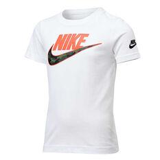 Nike Boys Futura Camo Tee White 4, White, rebel_hi-res