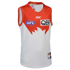 Sydney Swans 2020 Kids Away Guernsey White/Red 12, White/Red, rebel_hi-res