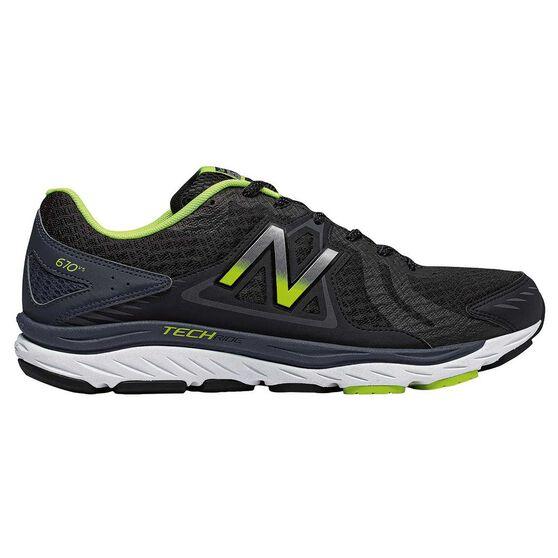 New Balance 670v5 Mens Running Shoes, Black / Yellow, rebel_hi-res