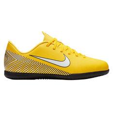 Nike Mercurial Vaporx 12 Club Neymar Jr Junior Indoor Soccer Shoes Yellow    White US 2 9590da745fb