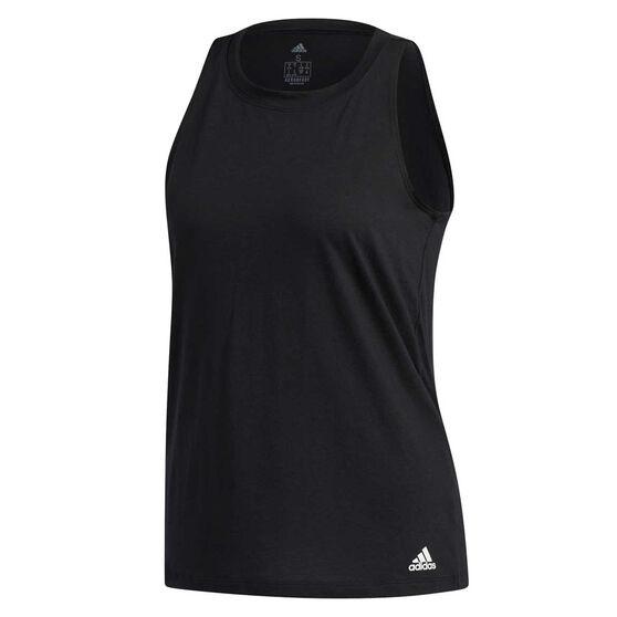 adidas Womens Prime Tank, Black, rebel_hi-res