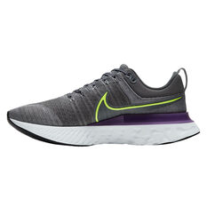 Nike React Infinity Run Flyknit 2 Mens Running Shoes Grey/Pink US 7, Grey/Pink, rebel_hi-res