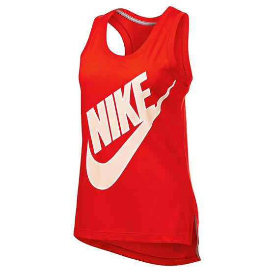 Nike Womens Sportswear Futura Tank, Red, rebel_hi-res