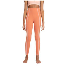 Nike Yoga Womens Luxe High-Waisted 7/8 Tights Orange S, Orange, rebel_hi-res