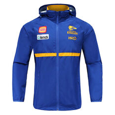 West Coast Eagles 2020 Mens Wet Weather Jacket Blue S, Blue, rebel_hi-res