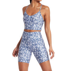 Nimble Womens Laser Hem Bike Shorts Blue XXS, Blue, rebel_hi-res