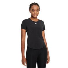 Nike Womens Dri-FIT One Luxe Standard Tee Black XS, Black, rebel_hi-res