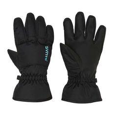 SVNT5 Womens Drop Gloves Black S, Black, rebel_hi-res
