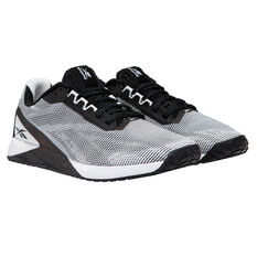 Reebok Nano X1 Grit Womens Training Shoes White/Black US 6, White/Black, rebel_hi-res