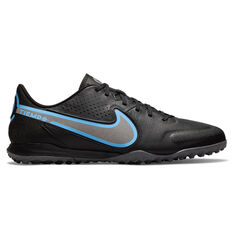Nike Tiempo Legend 9 Academy Touch and Turf Boots Black/Grey US Mens 4 / Womens 5.5, Black/Grey, rebel_hi-res