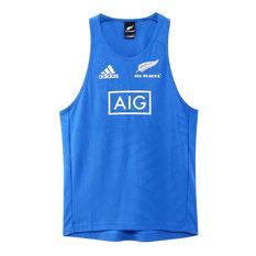 All Blacks Rugby World Cup 2019 Mens Y-3 Singlet Blue S, Blue, rebel_hi-res