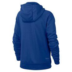 Nike Dri-FIT Boys Full-Zip Training Hoodie Blue / White XS, Blue / White, rebel_hi-res