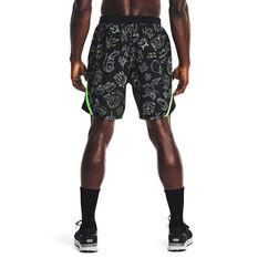 Under Armour Mens Run Ur Face Off Shorts, Black, rebel_hi-res