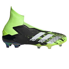adidas Predator Mutator 20+ Football Boots Black/Green US Mens 7 / Womens 8, Black/Green, rebel_hi-res