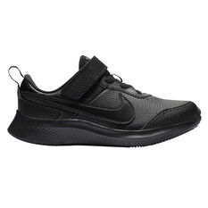 Nike Varsity Leather Kids Running Shoes Black US 11, Black, rebel_hi-res