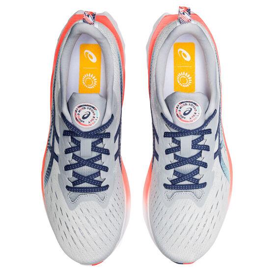 Asics Novablast 2 Celebration of Sport Mens Running Shoes, Grey/Blue, rebel_hi-res
