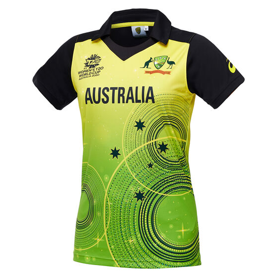 Cricket Australia 2020 Womens T20 World Cup Jersey, Green/Gold, rebel_hi-res