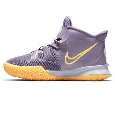 Nike Kyrie 7 Kids Basketball Shoes Purple US 11, Purple, rebel_hi-res