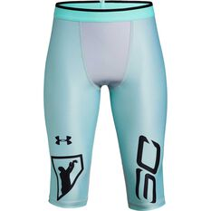 Under Armour Boys SC30 Knee Tights Grey / Black XS, Grey / Black, rebel_hi-res