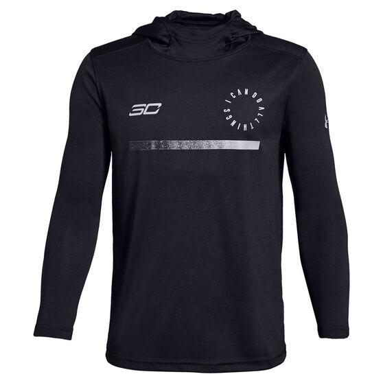 Under Armour Boys SC30 Shooting Shirt, Black / Grey, rebel_hi-res