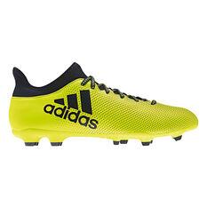 adidas X17.3 Mens Footabll Boots Yellow US 7 Adult, Yellow, rebel_hi-res