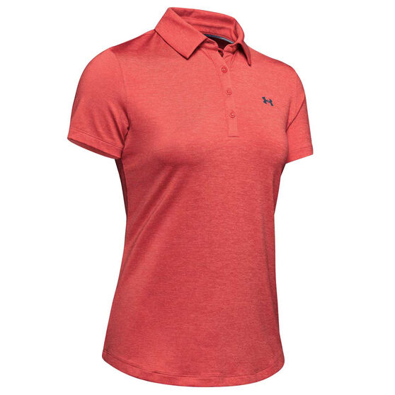 Under Armour Womens Zinger Polo, Red, rebel_hi-res