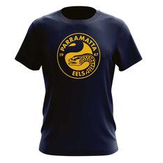 Parramatta Eels Mens Outline Tee, , rebel_hi-res