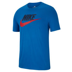 Nike Sportswear Mens Icon Futura Tee Blue S, Blue, rebel_hi-res
