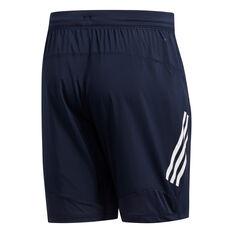 adidas Mens 4KRFT Tech 3-Stripes Woven Shorts Navy S, Navy, rebel_hi-res