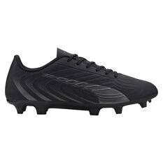 Puma One 20.4 Football Boots Black US Mens 7 / Womens 8.5, Black, rebel_hi-res