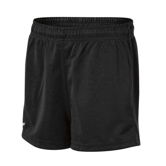 Burley Sekem Boys Pull On Baggy Shorts, Black, rebel_hi-res