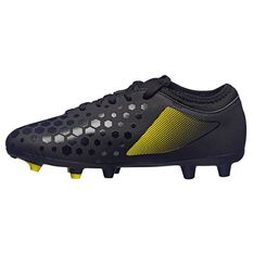 Umbro UX Accuro II Club Kids Football Boots Black / Yellow US 11 Junior, Black / Yellow, rebel_hi-res