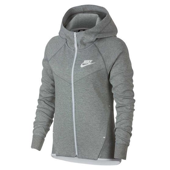 Nike Womens Sportswear Tech Fleece Windrunner Hoodie Grey XS, Grey, rebel_hi-res