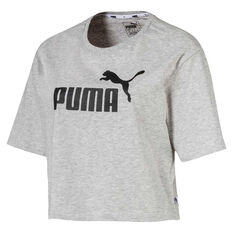 Puma Womens Essentials Cropped Tee Grey XS, Grey, rebel_hi-res