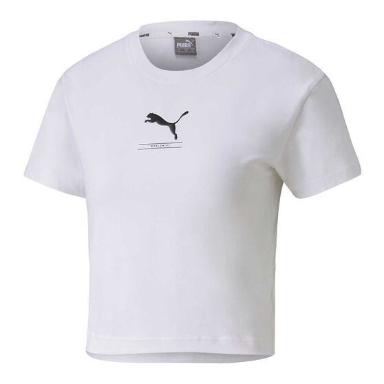 Puma Womens NU-tility Fitted Tee, White, rebel_hi-res