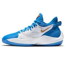 Nike Zoom Freak 2 Signal Blue Kids Basketball Shoes Blue US 4, Blue, rebel_hi-res