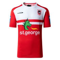 St George Illawarra Dragons 2021 Mens Training Tee Red/White S, Red/White, rebel_hi-res